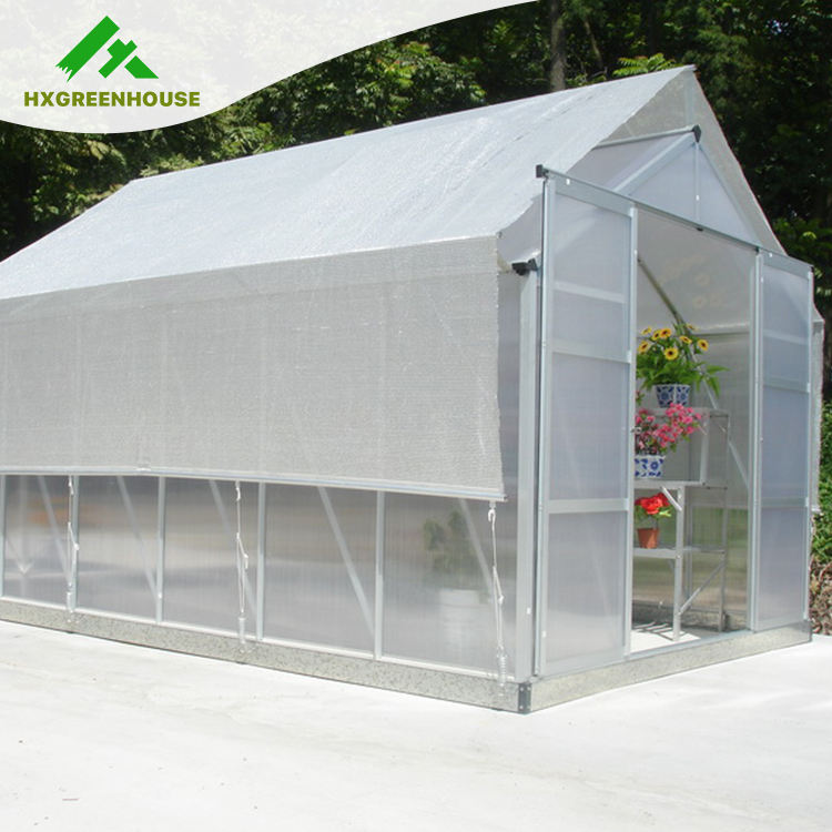 Innovational module hobby 6mm polycarbonate aluminum garden greenhouses for sale