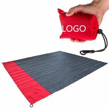 Woqi Outdoor custom portable picnic mat foldable pocket blanket lightweight sand proof beach blanket