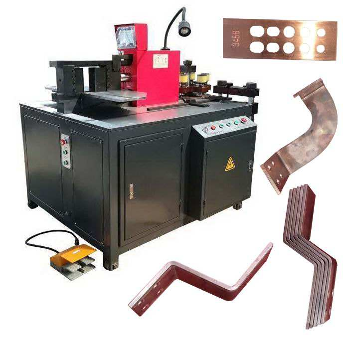 HV/LV switch cabinet equipment bending the copper busbar cutting punching bending machine