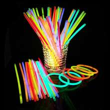 "2020 Neon glow party gift 8"" glow light sticks bracelets asst colors"