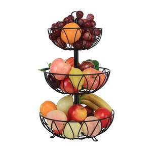 3-Tier fruit stand Countertop Fruit Basket Stand Vegetable Bread Basket Holder