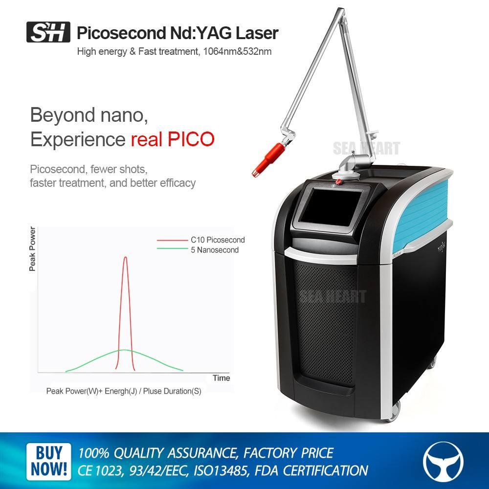 Alta qualidade 532nm 1064nm q-switched nd yag laser picossegundos laser para remoção de <span class=keywords><strong>tatuagem</strong></span>