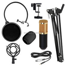 2017 hot sell new style BM800+ Condenser Microphone Professional Audio Studio Recording Microphone Metal Tripod