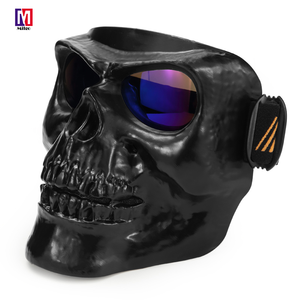 Motorcycle goggles Helmet Mask Vintage Detachable Modular Skull Mask Motorcycle Goggles Moto Motocross Glasses