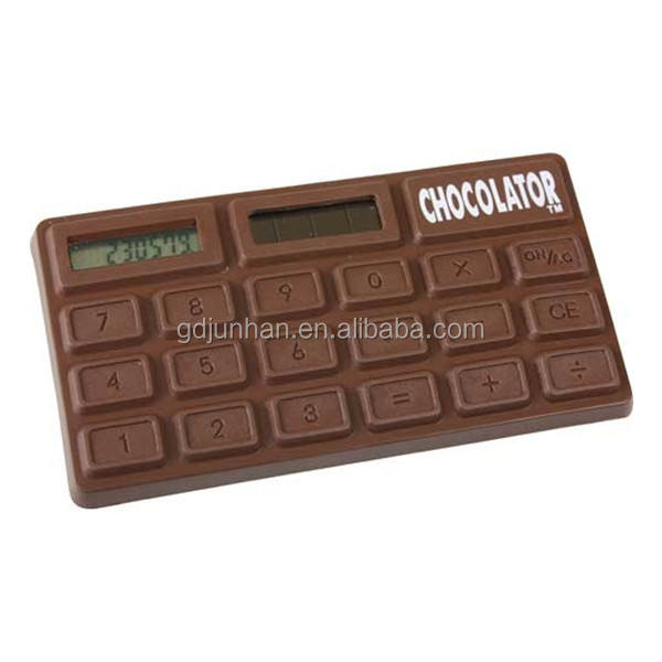 CHOCOLATE DELUXE CALCULATOR SOLAR POWERED SMELLS AND LOOKS  CHOCOLATE N