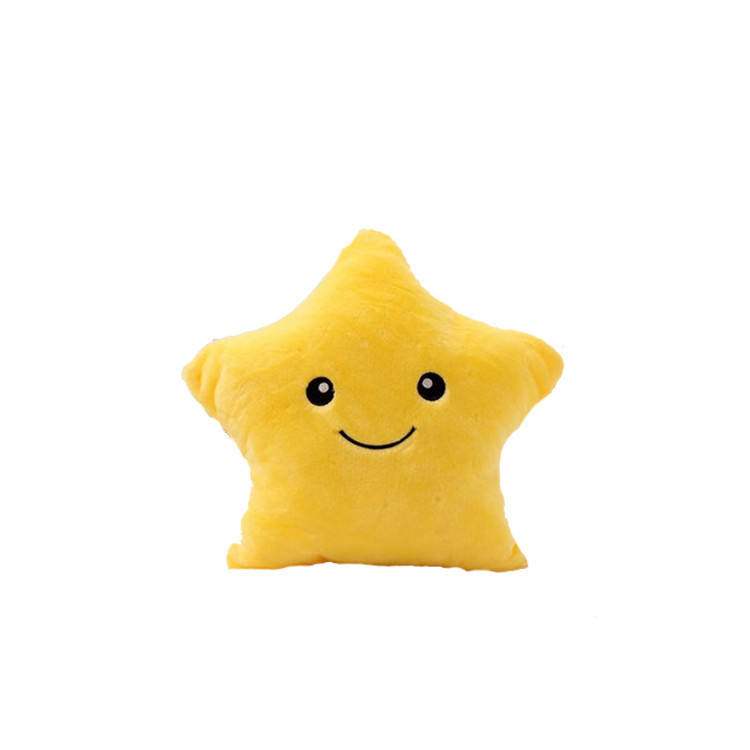 Colorful Body Pillow Star Shape Glow Light Pillow Cushion Soft Relax Gift Smile Body LED Pillow With Battery