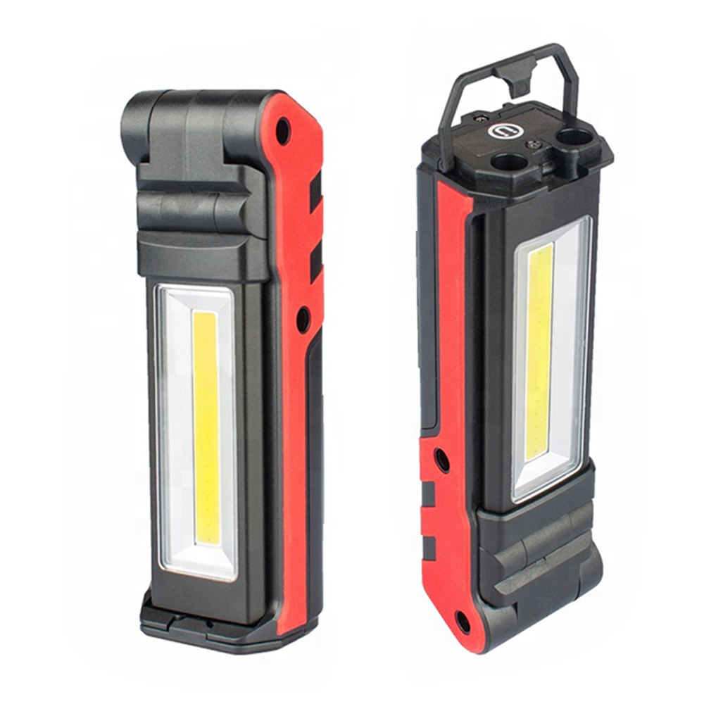New portable 10 W 18650 rechargeable Folding led work light magnetic base and power display work light