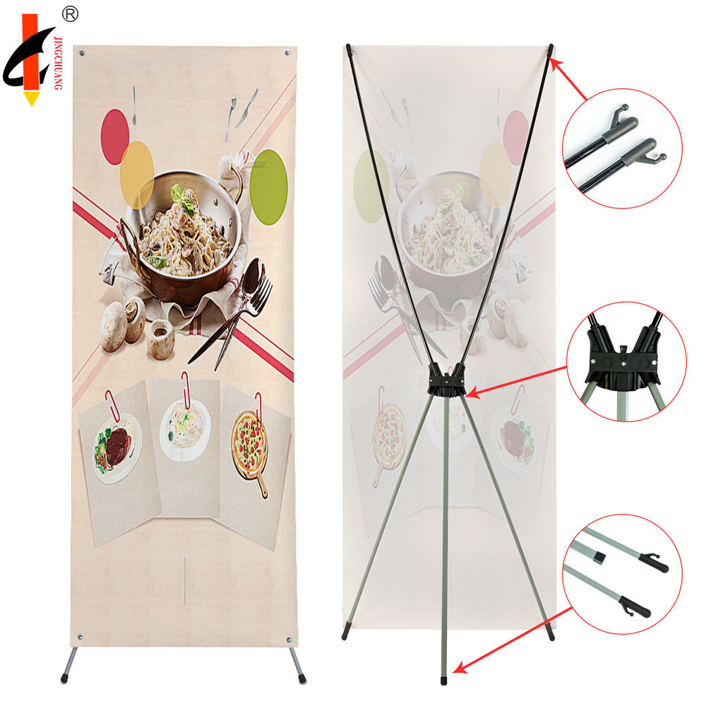 Wholesale plastic retractable trade show display X banner stand