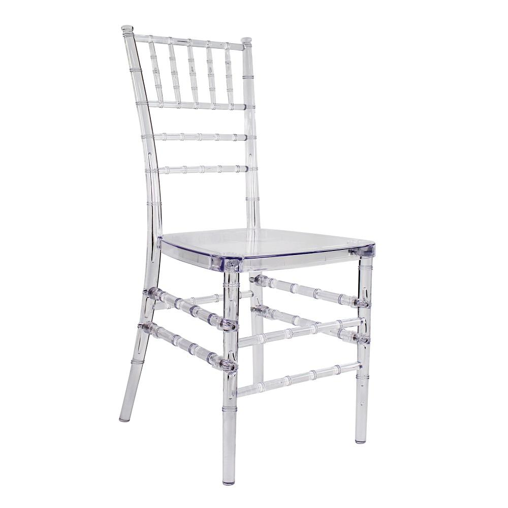 clear crystal plastic acrylic resin tiffany chiavari wedding chair