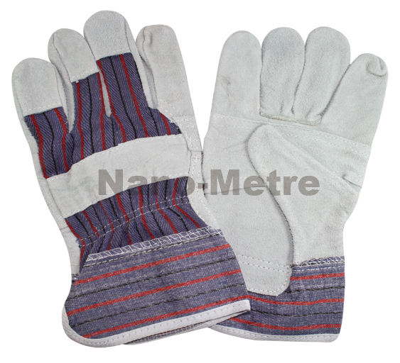 NMSAFETY cowhide leather safety gloves/ safety work gloves/ leather safety gloves