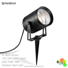 outdoor decorative aluminium cob 12w garden lawn and tree led tree spot light