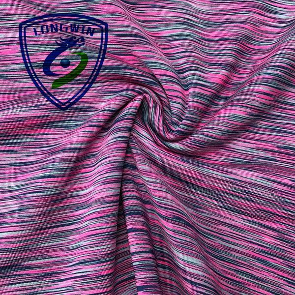 melange 87% polyester 13% spandex elastic jersey fabric for yoga wear and yoga pants