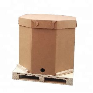 1000L Heavy Duty Cardboard Packaging Box with Liner Bag for Liquid Transport Paper IBC Boxes