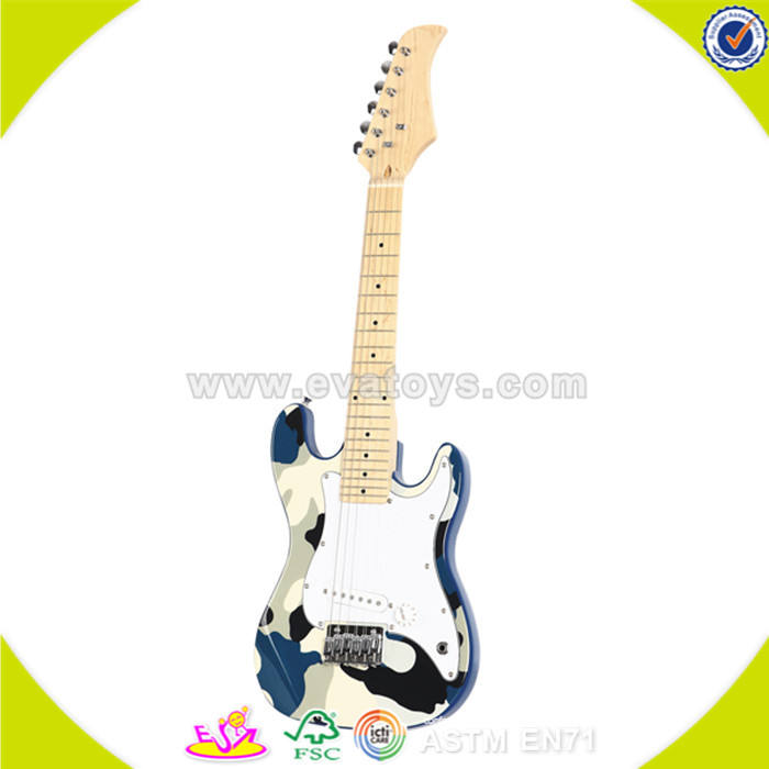 wholesale hot sale baby wooden toy guitar high quality kids wooden toy guitar W07H009
