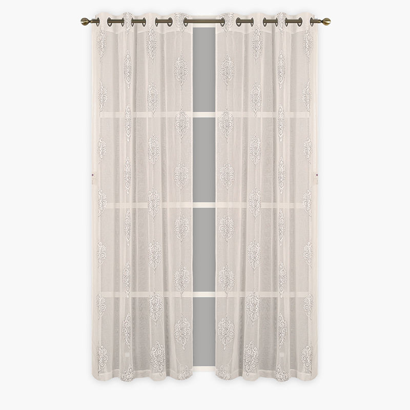 100% polyester material hotel use organza sheer curtain