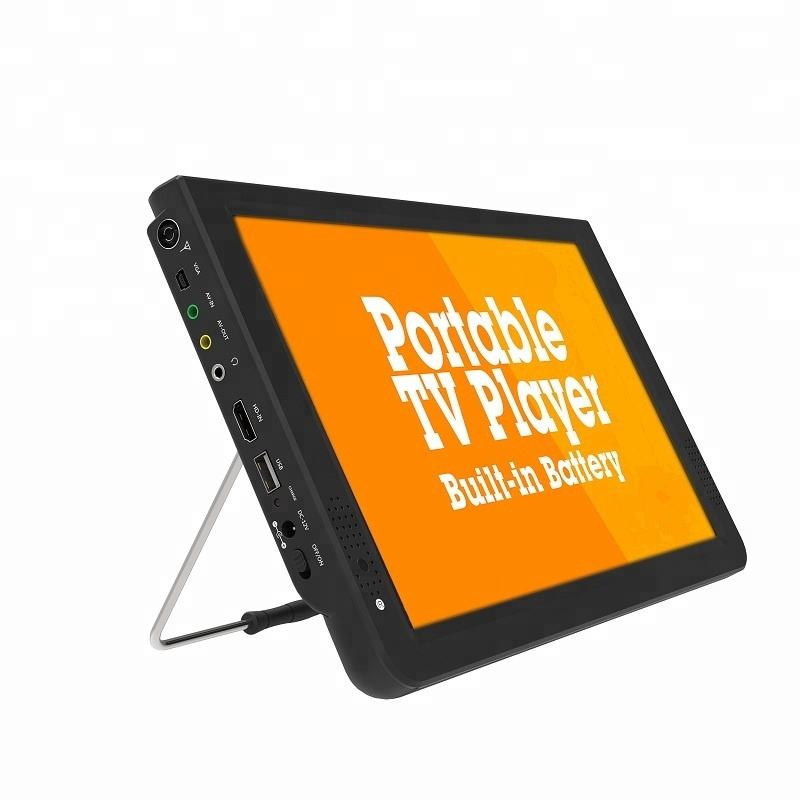 Factory cheap price home tv dvbt dvbt2 tv 12 inch tv 1080P Portable Multimedia Player with video input