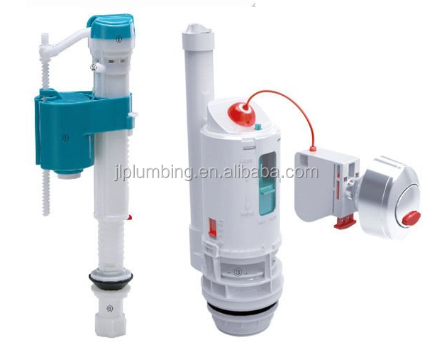 Universal cistern dual flush mechanism for two piece toilet