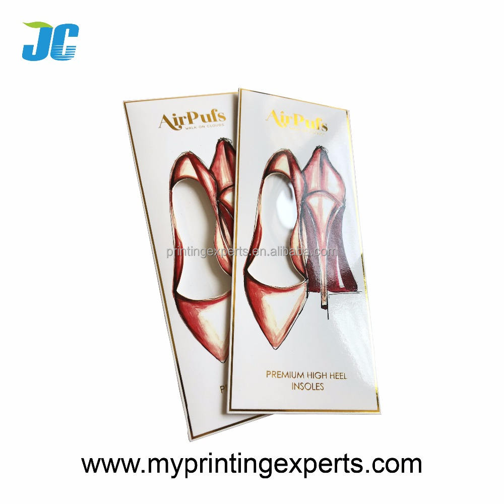 Premium high heel insoles packaging