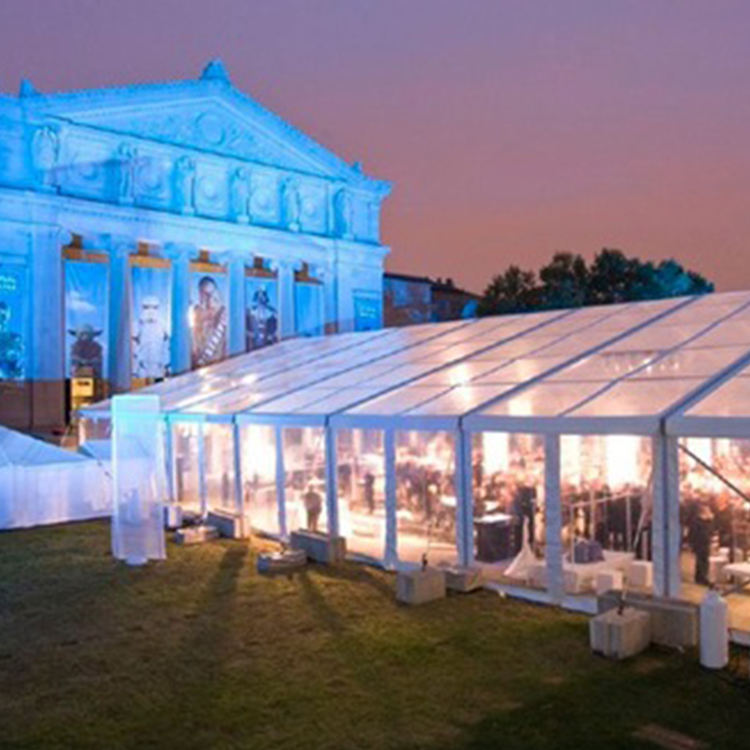 Hot Sale 20x30 Transparent Party Wedding Tent With Glass Wall