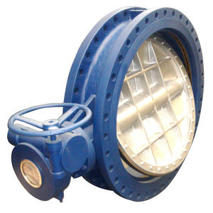 Big size double flanged triple-offset butterfly valve