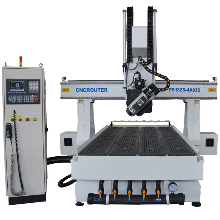 Heavy duty 4 axis 1325 automatic tool change cnc router woodworking milling machine