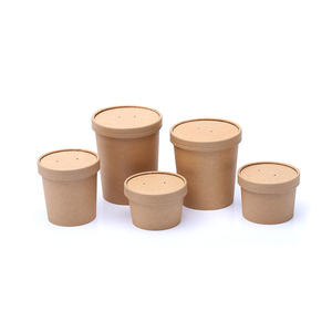 Custom 16oz Wholesale round biodegradable Disposable take away container paper food box
