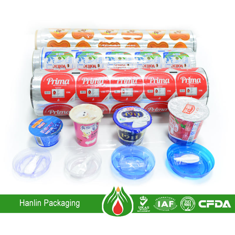 25-50mic for yogurt cup lid disposable aluminum foil container