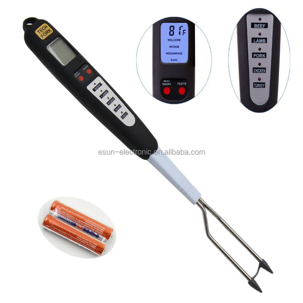 Amazon best selling Smart cooking temperature monitor Kitchen Digital BBQ Household Meat Thermometer fork