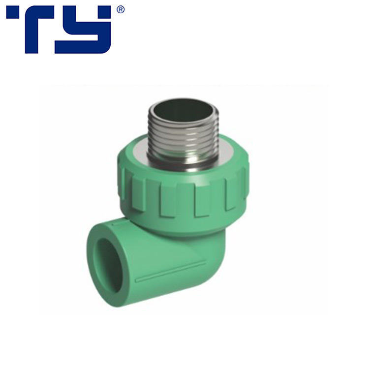 Chinese supplier special discount ppr polypropylene hydraulic male threaded Elbow fittings