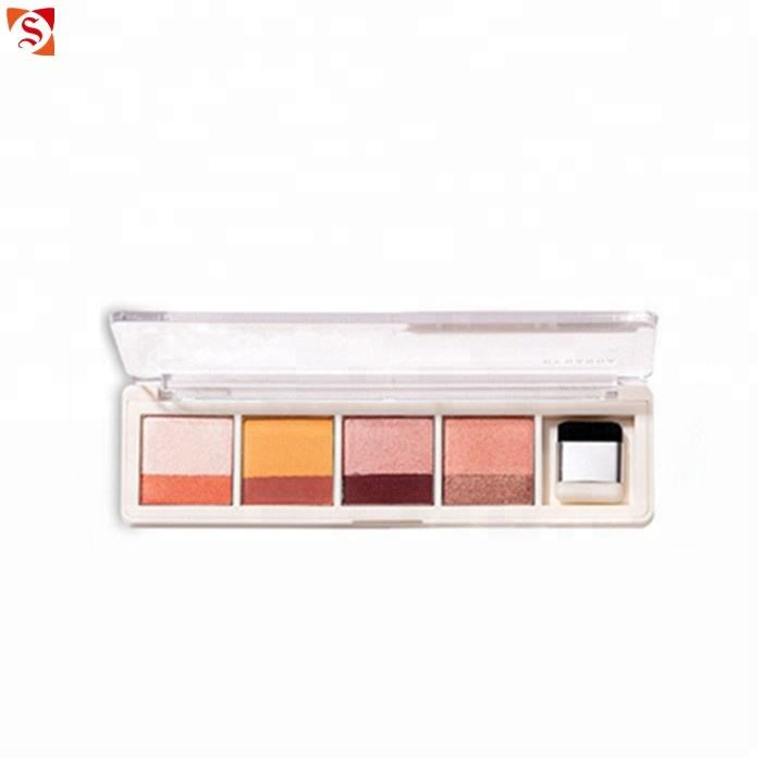 2018 best selling cosmetic manufacturers makeup eyeshadow palette OEM custom logo double color eye shadow