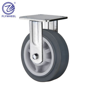 29 TPR 휠 fixed heavy duty caster, 플라스틱 core TPR 타이어 휠,, 휠 diameter: 100mm 125mm 150mm 200mm