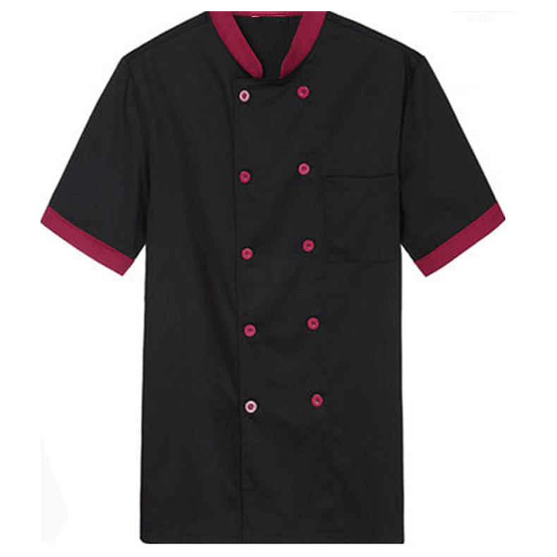 Customized Logo Short Sleeve Restaurant Hotel Kitchen Chef Jacket