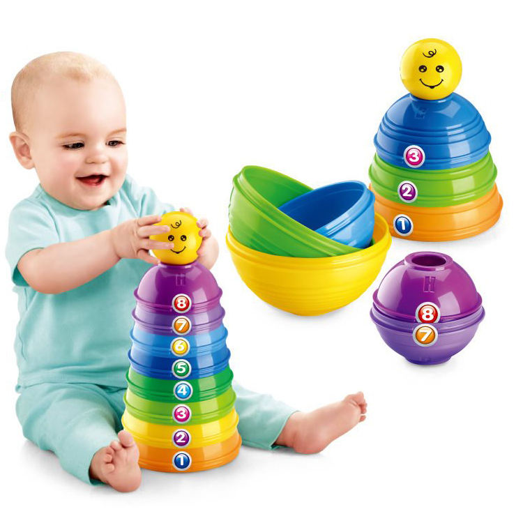 Eco-friendly fisher baby toys educational baby stacking cups toddler toys for babies