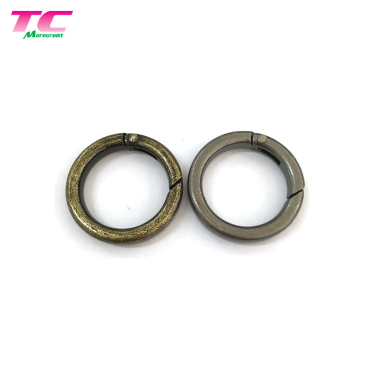 Best Selling 25mm Round Metal Snap O Ring Carabiner Factory, Wholesale Spring Snap Key Ring For Bag Fastener