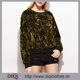 Guangzhou clothes factory newest design fashion Spring women Gold Round Neck Embroidered Sequin Sweatshirt