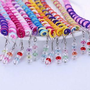 FY fashion 6pcs Rainbow Color Headband Cute Girls Hair band Crystal Long Elastic Hair Bands Headwear Hair Accessories