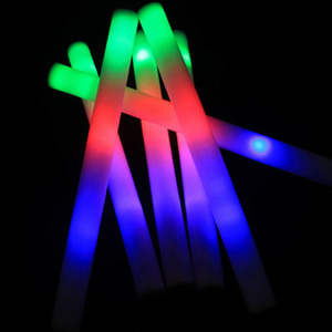 LED Flashing Foam Stick Batons Light Wands DJ Glow Sticks BULK