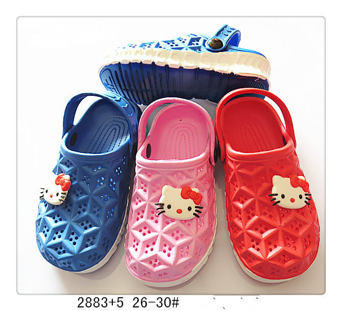 Injection Eva clog kids Outsole Material and outdoor Garden USE Safety Baby Shoes
