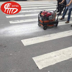 Road line marking material removal