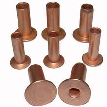 Precision oem flat head hollow copper rivets for pcb