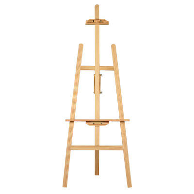 High Quality Children Collapsible Large Wooden Easel Display Floor Easel Tripod Easel for Art Supply