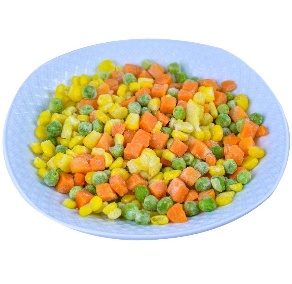 China Export Wholesale Mixed Frozen vegetable products IQF frozen carrot corn kernel and bean