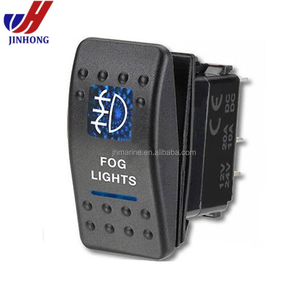 OFF ROAD LIGHTS Rocker Switch 5p ON//OFF for ARB NARVA Carling style 12v//24v Blue