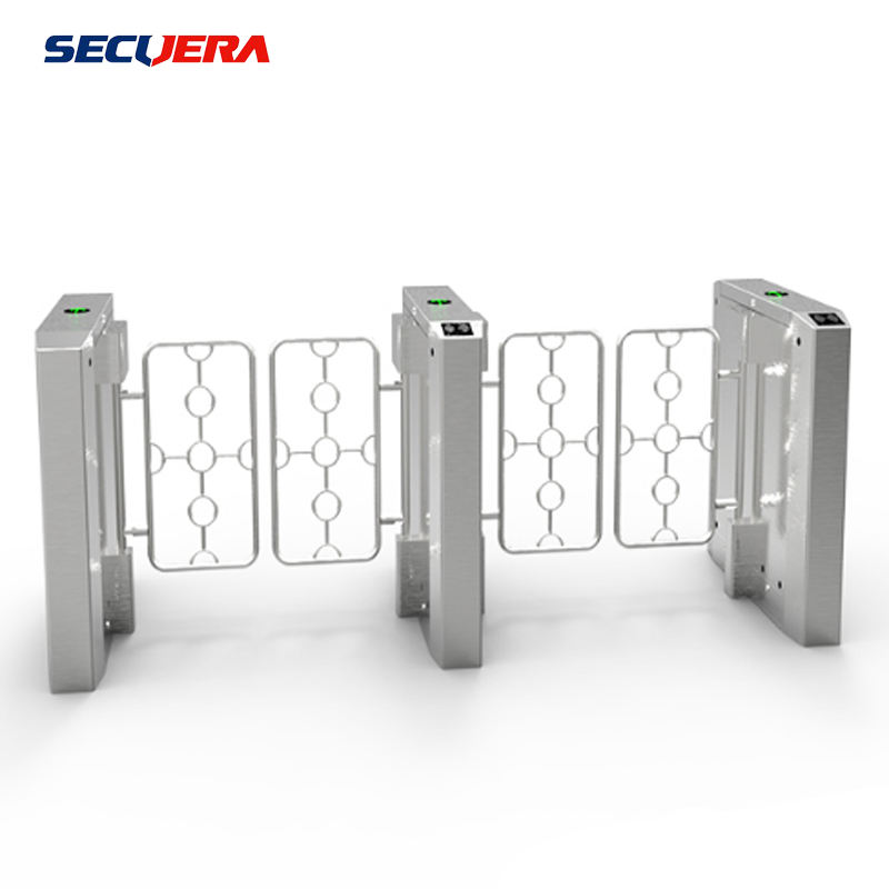 Stainless steel swing barrier gate with access control system