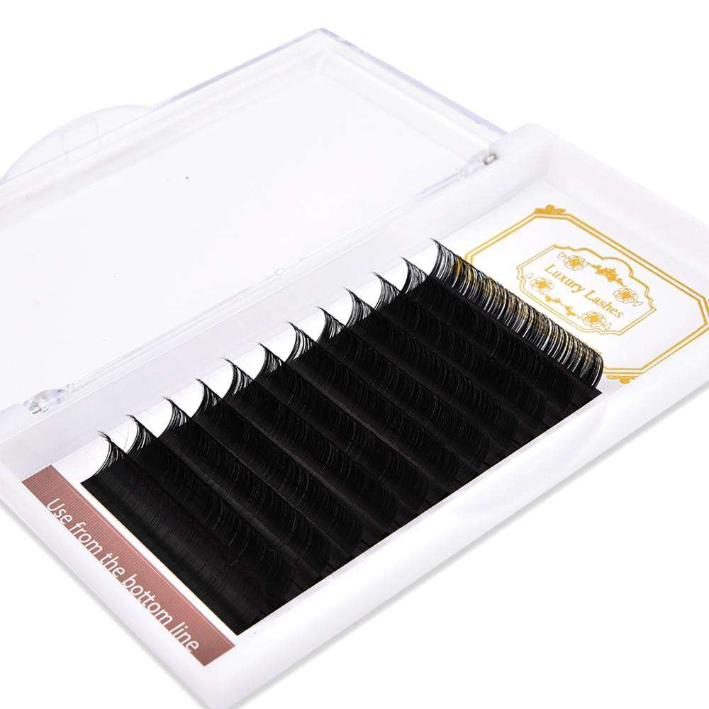 Private label korea quality silk mink eyelash extension 0.07 individual lashes