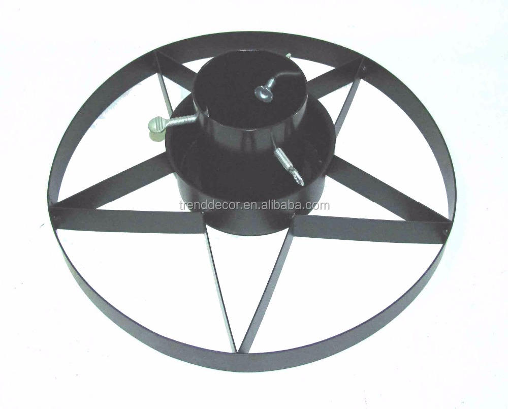 Cts-5020 Christmas Decoration Black Star Design Metal Christmas Tree Stand