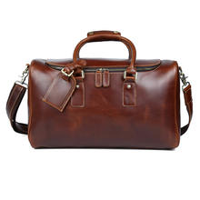 Wholesale Oil Wax Leather Weekend Travel Bags Custom Genuine Leather Duffle Bag For Men