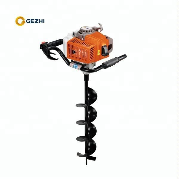 gasoline one man working 63cc hole digger earth auger CE approved
