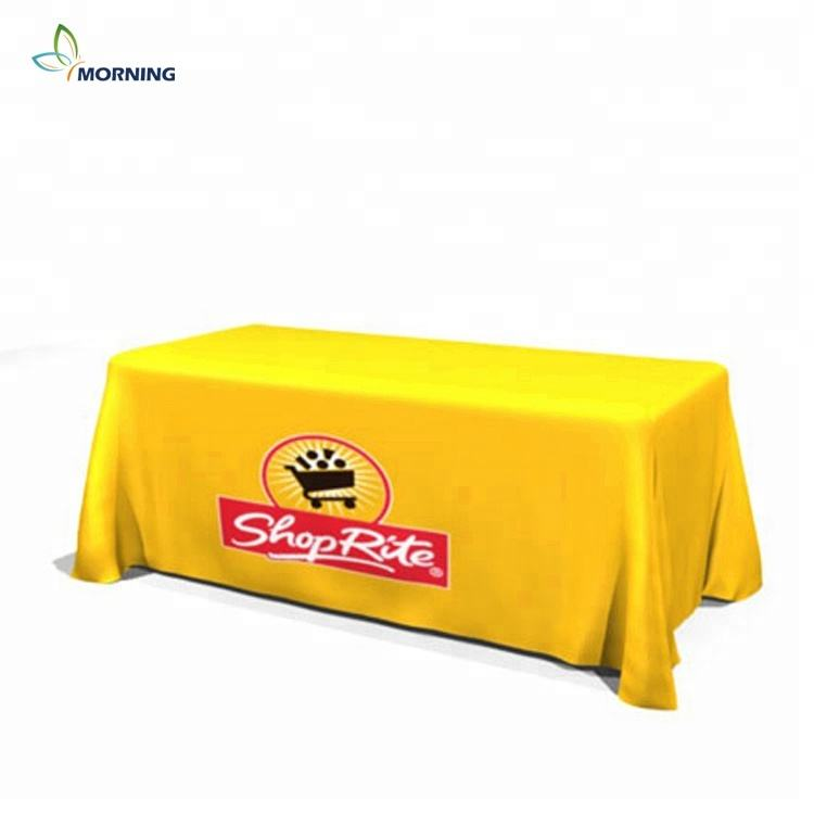 6ft 8ft trade show table throw fitted custom printed table cloth standard table cover