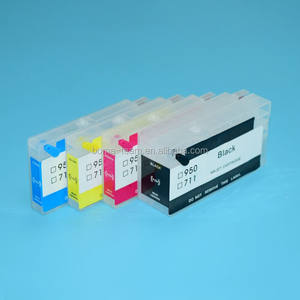4 color 711XL H P 711 Inkjet Refill Inks Cartridge For HP Designjet T120 T520 120 520 Printer For HP 711 Auto Reset Chip